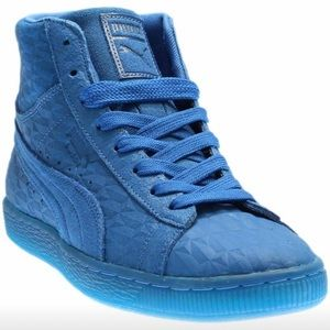 Blue Puma Suede Sneakers side 10